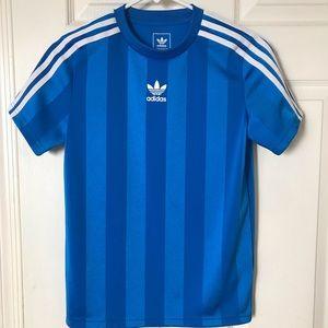 Boys Medium Adidas 3 Stripe Shirt